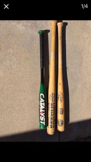 Kids wooden and aluminum baseball bats for Sale in Mesa, AZ