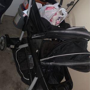 Black Double Stroller for Sale in Sanger, CA