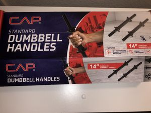 14 in long dumbbell handles for Sale in Westminster, CO