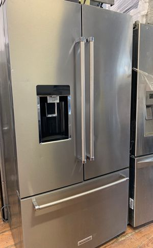 Kitchen Aid Stainless Steel Fridge Few Dents for Sale in Costa Mesa, CA