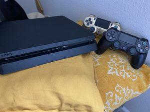 PS4 slim 1TB w/ 2 controllers for Sale in Tracy, CA