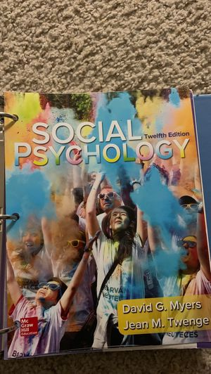 Social Psych Textbook for Sale in Fullerton, CA