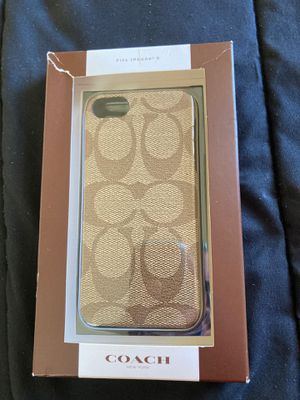 iPhone 5 COACH cover for Sale in Chester, PA
