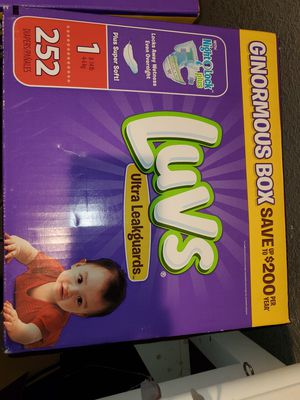 New luvs size 1 diapers 252 count for Sale in Round Rock, TX