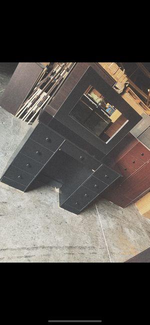 Black vanity dresser with mirror $175 for Sale in Los Angeles, CA