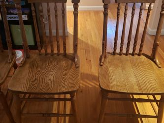 4 Kitchen Table Chairs, Wood for Sale in Seattle,  WA