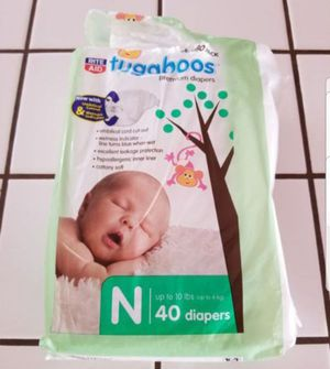 Tugaboos Diapers- Premium-Size N (Up to 10 lbs) for Sale in Vista, CA