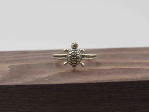Size 3.5 Sterling Silver Petite Turtle Open Band Ring Vintage Statement Engagement Wedding Promise Anniversary Bridal Cocktail Friendship for Sale in Everett, WA