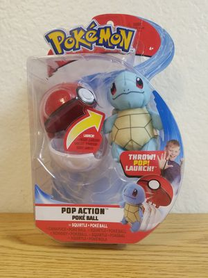 Pokemon Squirtle Pop Action Poke Ball THROW POP LAUNCH for Sale in Fullerton, CA