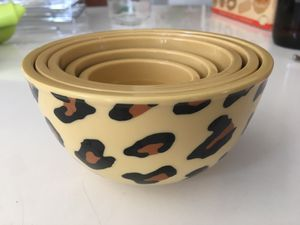 Set of 5 small kitchen prep bowl animal print for Sale in San Diego, CA