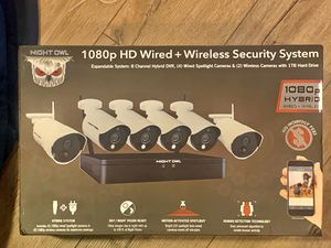 1080p HD wired/wireless security system for Sale in Dallas, TX
