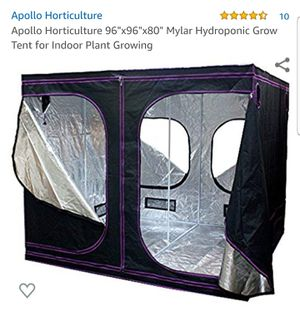 "Apollo Horticulture 96""x96""x80"" Mylar Hydroponic Grow Tent for Indoor Plant Growing for Sale in San Diego, CA"