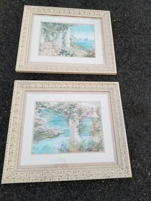 $150.00 - (2) French Provincial Artworks from Liliana Frasca - LOOK AT THE FRAMES ALONE! for Sale in Miami, FL