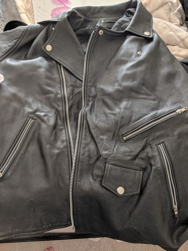 Wilsons leather men's motorcycle style jacket two 2LT