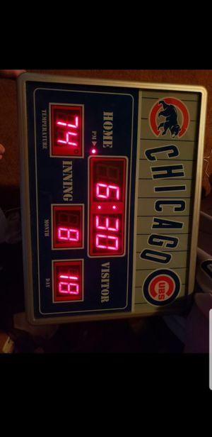 Chicago Cubs Clock for Sale in Glendale Heights, IL