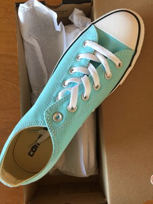 Turquoise Converse Tennis Shoes (Women's 10 M) for Sale in San Francisco, CA