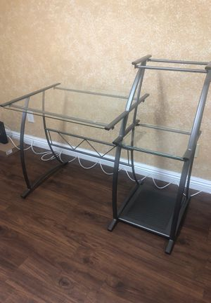 Metal desk with glass top for Sale in Sun City, AZ