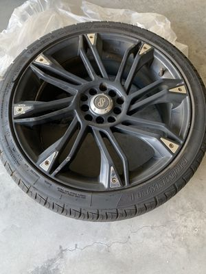 Enkei GW8 Matte Black Wheel/Rim with Tires X4 for Sale in St. Petersburg, FL