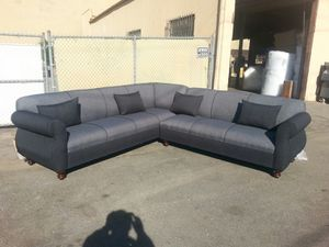 NEW 9X9FT ELITE CHARCOAL FABRIC SECTIONAL COUCHES for Sale in Palmdale, CA