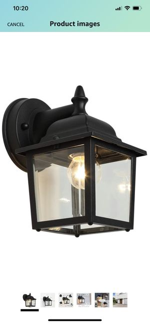 Outdoor Wall Light Fixtures Black Exterior Wall Lantern Waterproof Simple Modern Porch Lights Wall Mount with Clear Glass Shade Wall Lamp for Sale in Springfield, VA