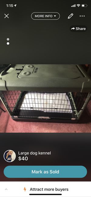 Large dog crate for Sale in Melrose, MA