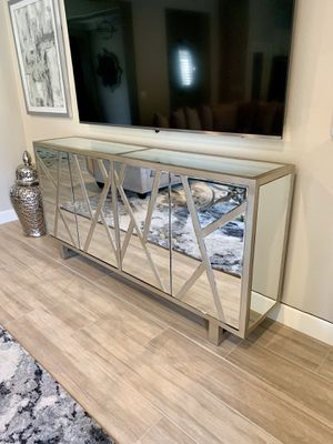 Credenza/Sideboard, Wexford, color: champagne silver gold for Sale in Phoenix, AZ