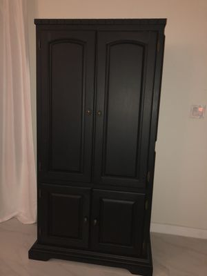 Nice wood armoire with shelves for Sale in Miami, FL