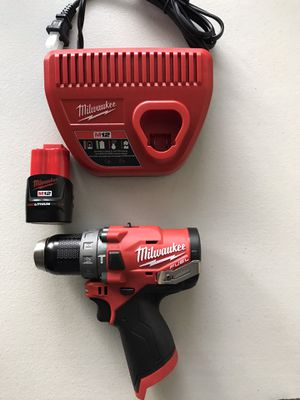 NEW Milwaukee M12 FUEL 12-Volt Lithium-Ion Brushless Cordless 1/2 in. Hammer Drill with BATTERY AND CHARGER for Sale in Los Angeles, CA