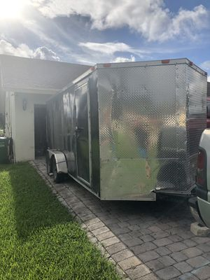 16ft enclosed trailer with tons of truck and car parts for Sale in Margate, FL