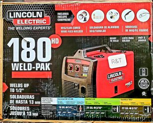Lincoln Electric 180 Amp Weld-Pak 180 HD MIG Wire Feed Welder with Magnum 100L Gun, Gas Regulator, MIG and Flux-Cored Wire, 230V for Sale in Fullerton,  CA