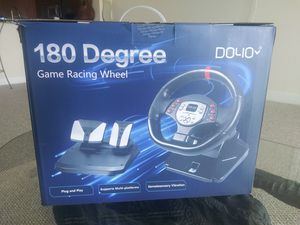 Racing wheel for gaming fits all gaming systems. for Sale in North Miami Beach, FL