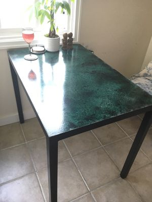 Small kitchen table - concrete/steel for Sale in San Diego, CA