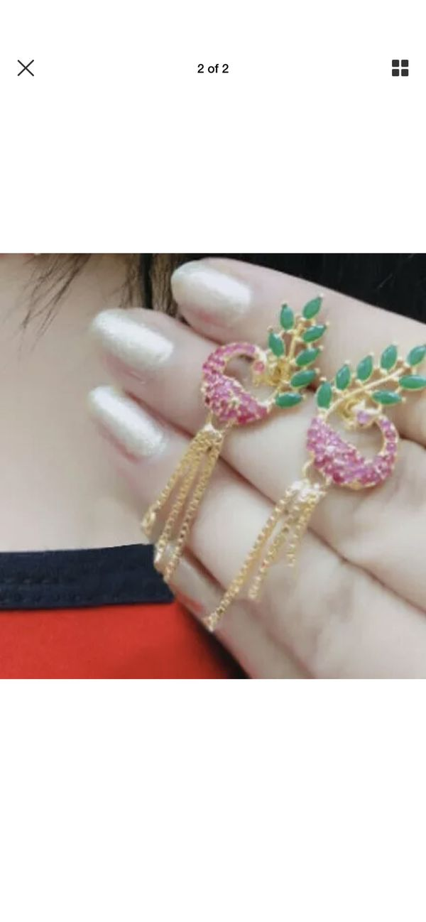Indian Pakistan Bollywood American Diamond Necklace set