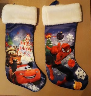 2 Christmas stockings both I'm in fontana message only when ready to pick up for Sale in Fontana, CA