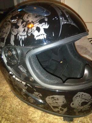 Motorcycle helmet with Skull graphics for Sale in Detroit, MI