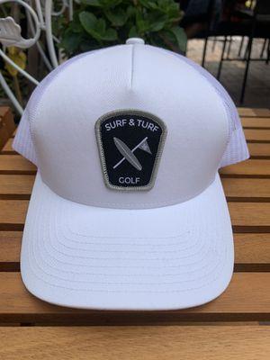 SURF & TURF | GOLF | WHITE & BLACK | HAT for Sale in Gardena, CA