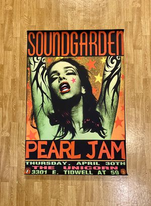 """Soundgarden & Pearl Jam Fabric Poster - 27"""" X 40"""" - Mint Condition for Sale in SeaTac, WA"""