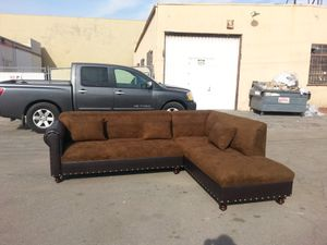 NEW 9X7FT CHOCOLATE MICROFIBER COMBO SECTIONAL CHAISE for Sale in Riverside, CA
