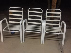Set of three metal chairs. Shea design pool company. for Sale in Goodyear, AZ