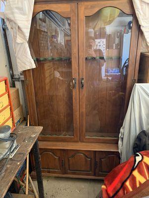 Antique gun cabinet for Sale in Moreno Valley, CA