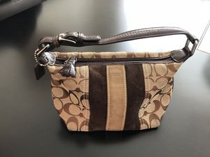 Coach shoulder bag - small leather and fabric for Sale in New York, NY