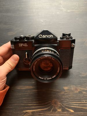 Canon F1 Film camera w/50mm 1.8 lens for Sale in St. Louis, MO