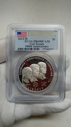 ** 2013-W* PCGS PR69 DCAM SILVER $1 COIN*GIRL SCOUTS*100TH. ANNIVERSARY* #27544217 for Sale in Brooklyn, NY