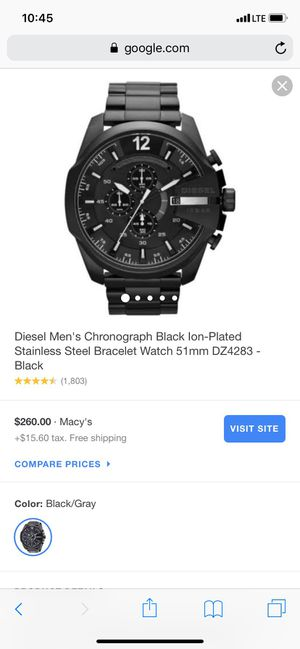 Diesel WATCH (Blue dial not black) for Sale in Frederick, MD