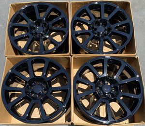 "20"" GMC Canyon factory wheels rims gloss black new Chevy Colorado for Sale in Santa Ana, CA"