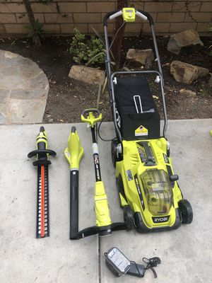 18V cordless lawn mower,blower,weed wacker,hedge trimmer, for Sale in San Diego, CA