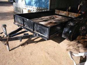 Traila trailer no title doble heje good conditons for Sale in Phoenix, AZ
