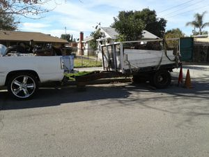heavy duty trailer dually. traila doble rodado super fuerte for Sale in Los Angeles, CA