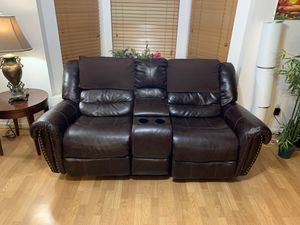 recliner sofa seat with cup holder and storage for Sale in Miami, FL