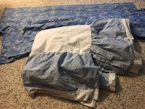 Baby crib skirt and two window valance curtain pieces. for Sale in Mesa, AZ